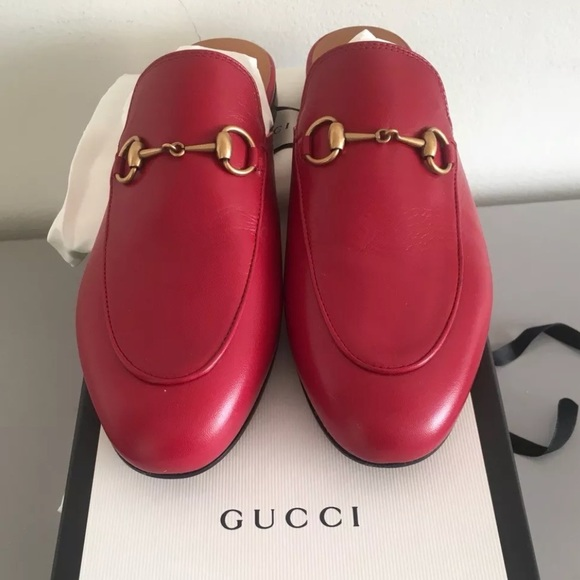 546a496cd18 Gucci Shoes - GUCCI Red Leather Princetown (size 38)